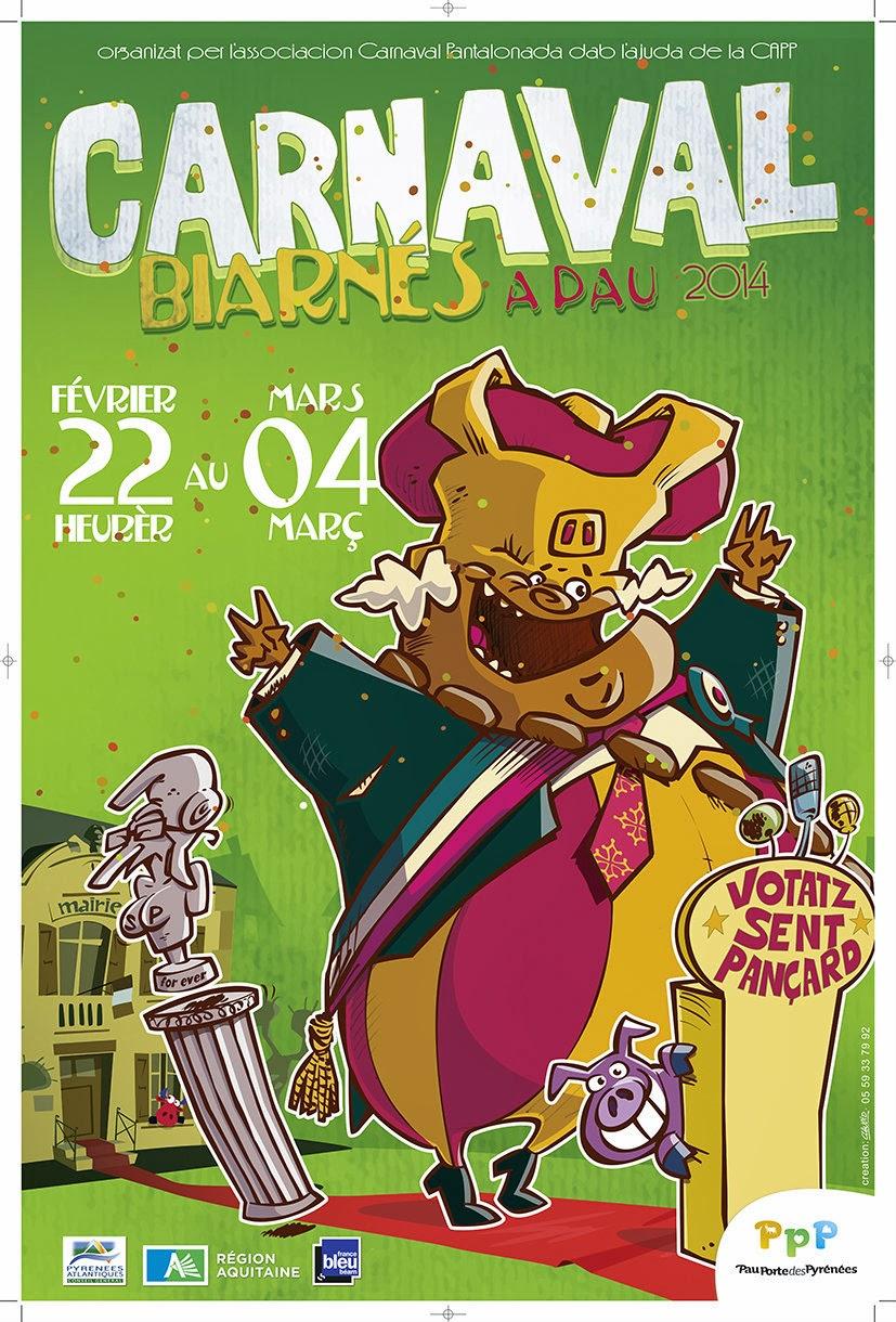 le Carnaval Biarnes 2014 de Pau