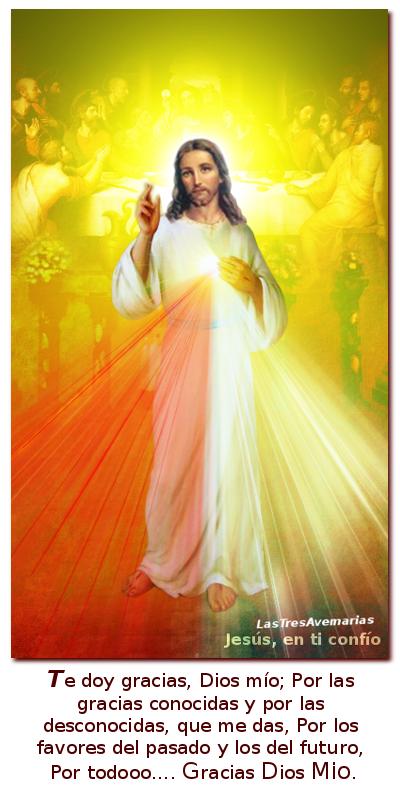 Divina misericordia con oracion de accion de gracias