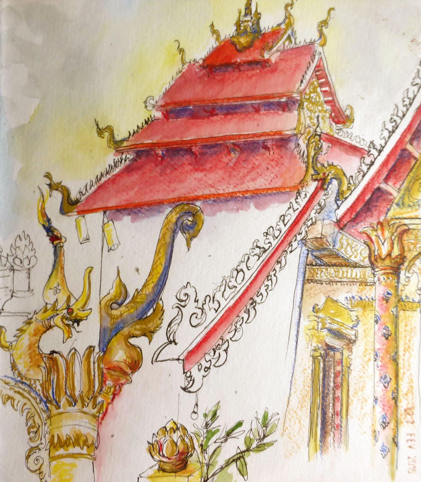 détail de Vat Luang Prabang