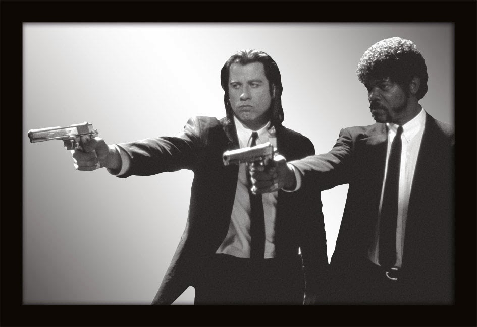 Espejo de Pulp Fiction Jules y Vincent Vega