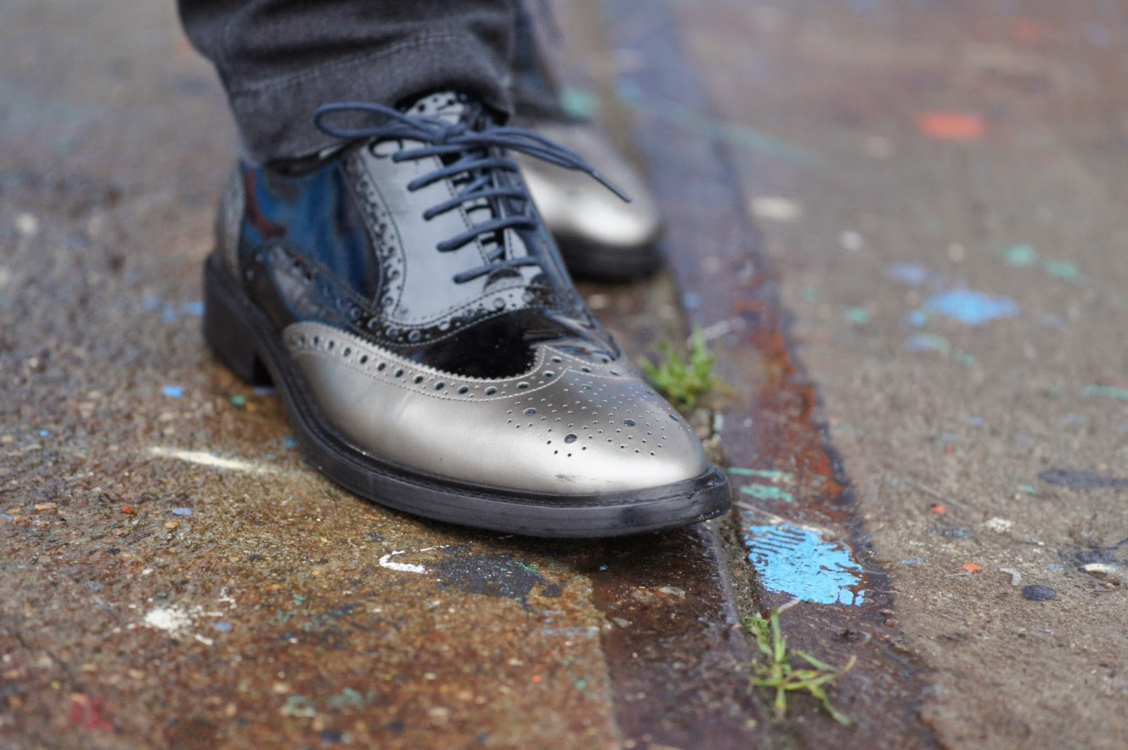 Dapper Hot Boy with brogue shoes melvin and hamilton