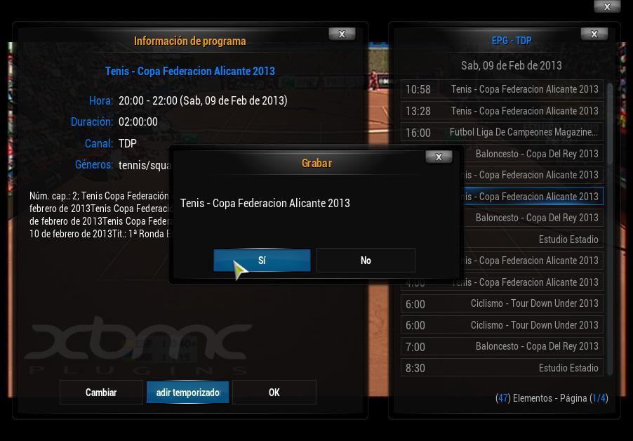 Configuración NEXTPVR en XBMC