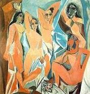 """Pintura Cubista - Pablo PIcasso - """"Las señoritas d'Avignon""""."""