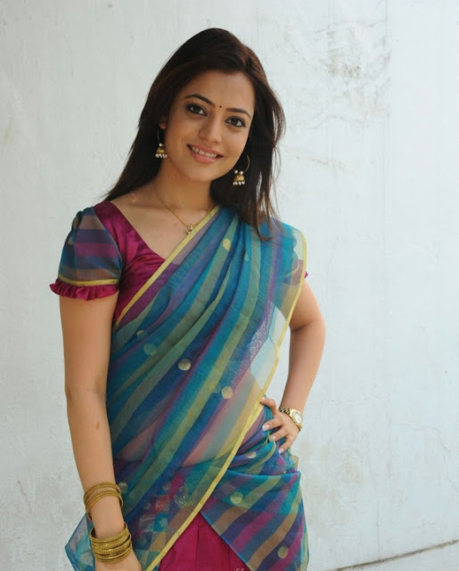 South Indian Actress Nisha Agarwal Looking Cute in Saree Stills 01