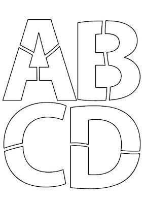 Moldes de Letras ABCD