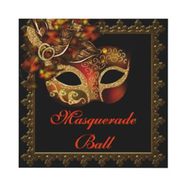 Invitations to this adult halloween masquerade ball were sent out months ago.