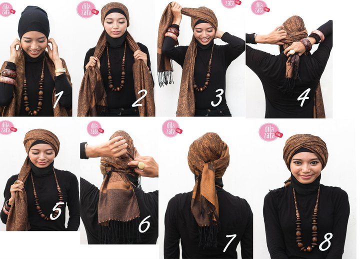 Tutorial Hijab Turban