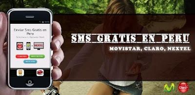 Enviar mensajes gratis sms en Perú con celulares Android