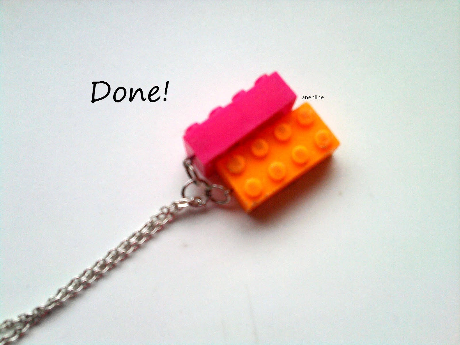 aneniine lego block necklace