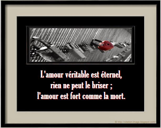 Citation sur l'amour éternel en image