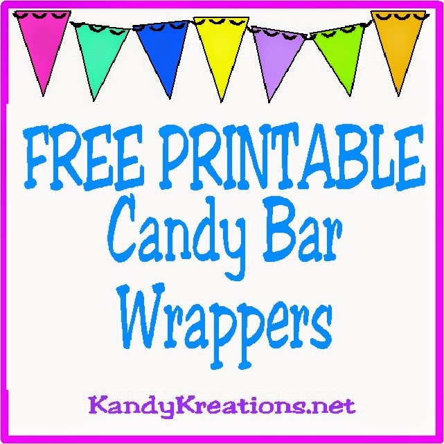 Printable Candy Bar Wrappers  Everyday Parties