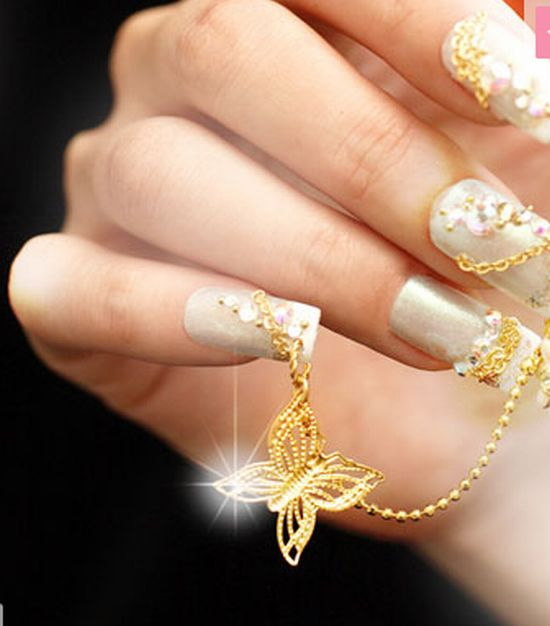 The Enchanting Glitter nail designs for glamorous look Digital Imagery