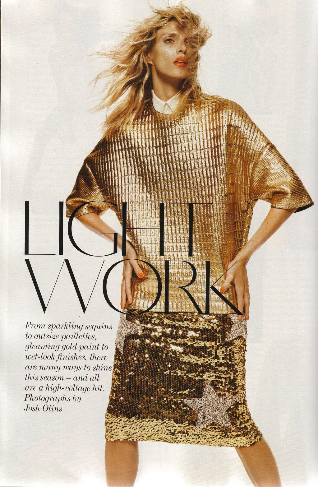 Anja Rubik by Josh Olins for Vogue UK September 2011