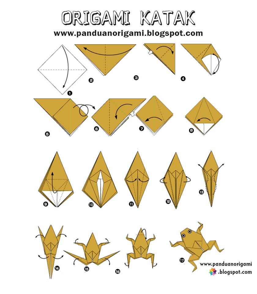 Panduan Membuat Origami Katak Lucu - Panduan Belajar