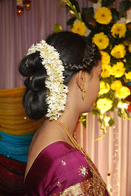 Bridal make over for marriage betrothal.