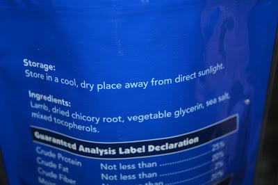 lamb jerky treat label