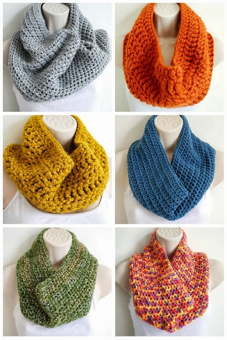Free Cowl Pattern To Crochet : Gallery For > Easy Crochet Cowl Scarf Pattern