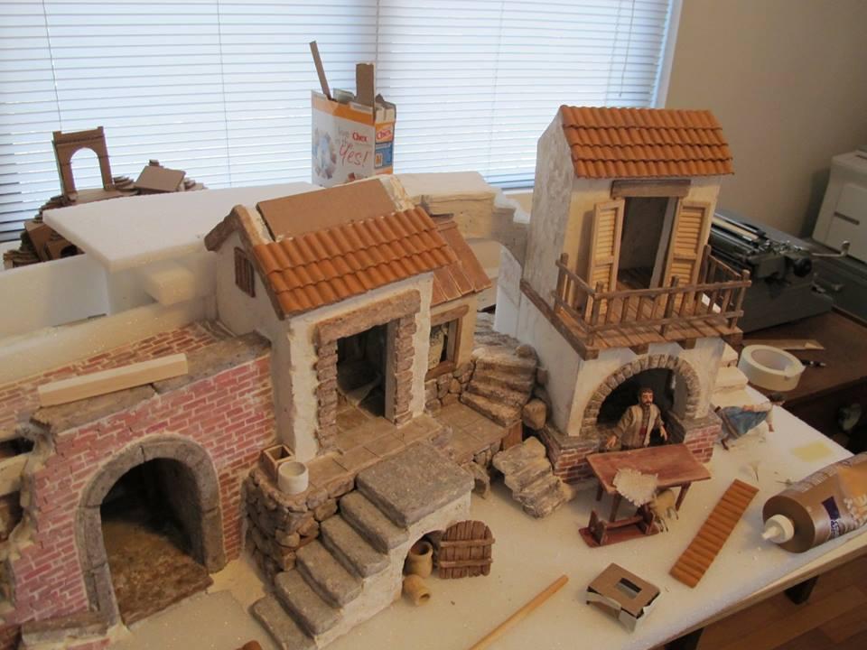 Come costruire piccole tegole per presepi e diorami il - Casette di cartone da costruire ...