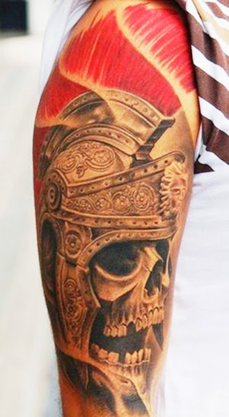Skull Tattoos on Sleeve for Man