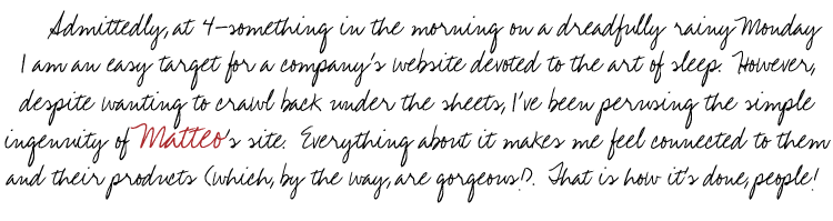 Matteo Bedding - Site Link