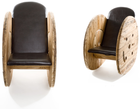 Creative reel furniture Creative wooden furniture