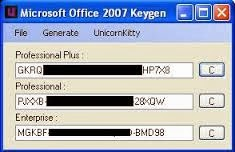 keygen office 2007 professional plus