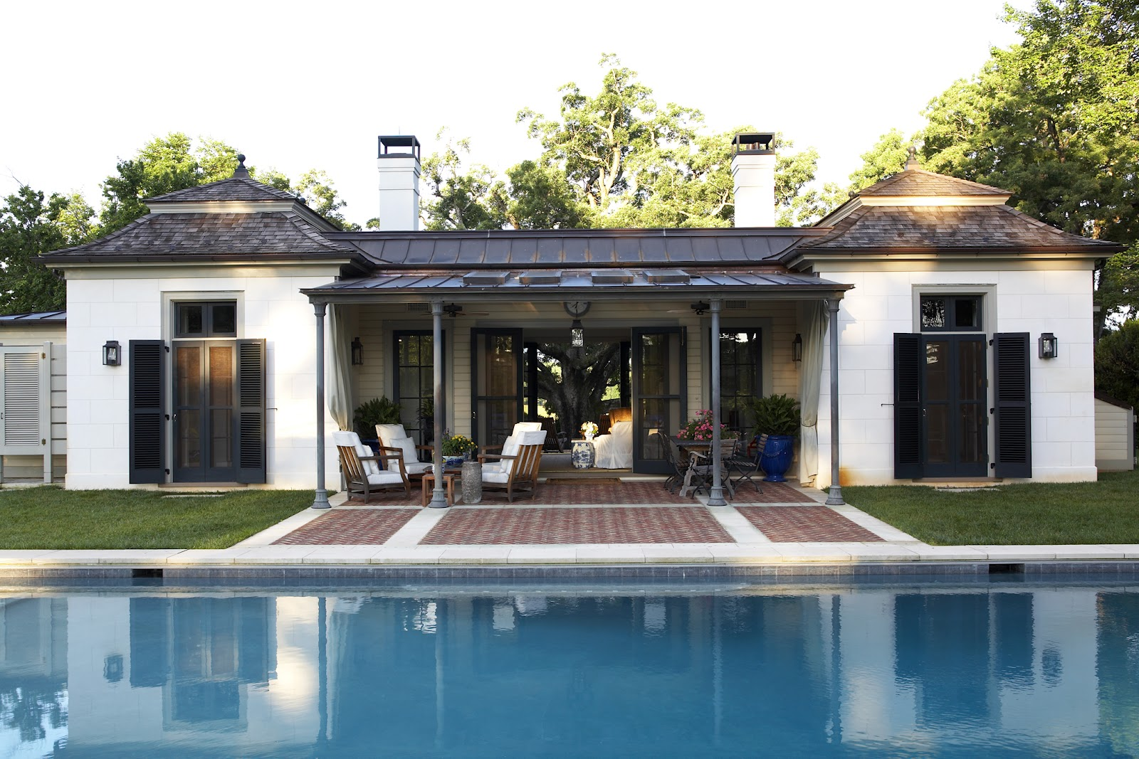 Pools on pinterest pool houses swimming pools and lap pools for Best pool houses