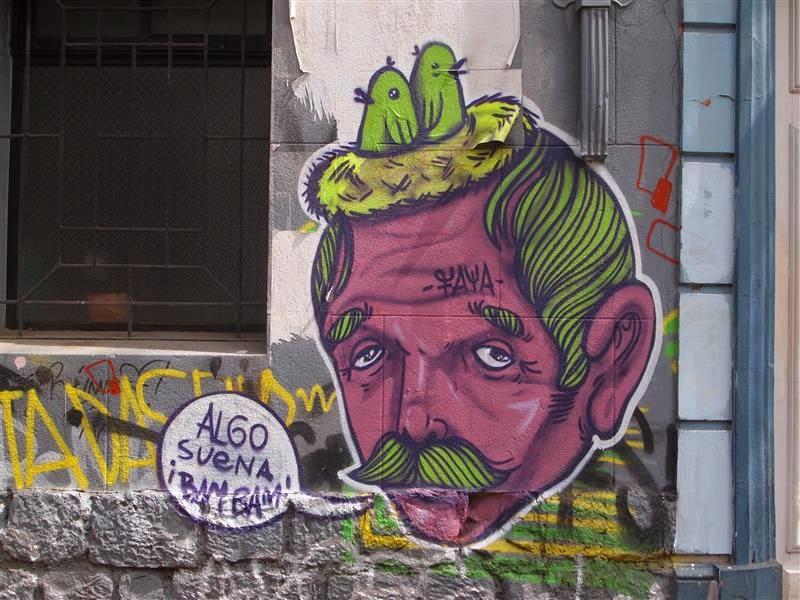 Mural en el barrio Bellavista (Santiago de Chile)