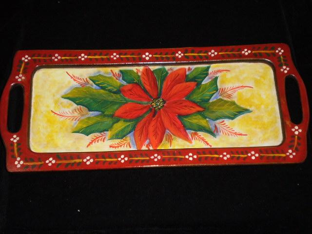 Arteluz motivos navide os en cajas y bandejas de madera - Cajas con motivos navidenos ...