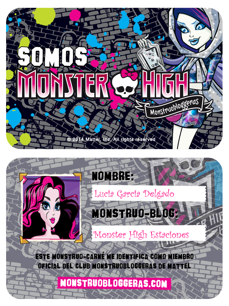 Mi carnet de Monstruo-Bloggera¡