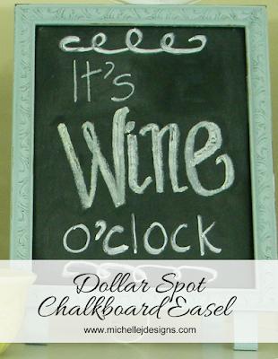 dollar spot chalkboard easel