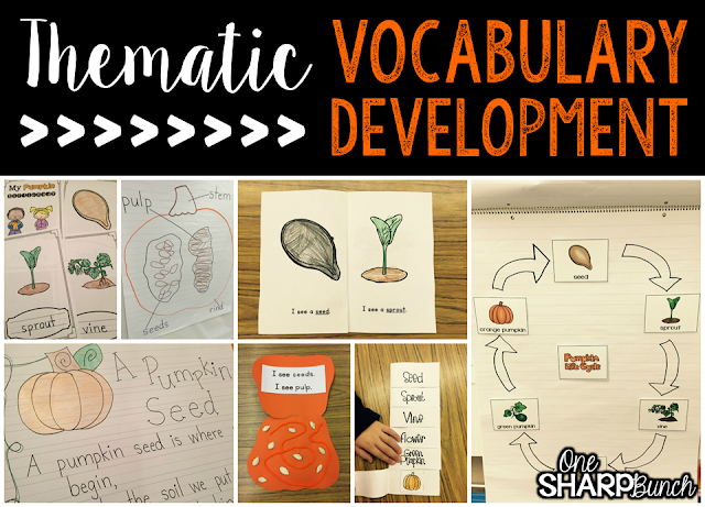 Vocabulary development made easy! Help build vocabulary using thematic words! Use anchor charts, poems, emergent readers, and more to make learning new vocabulary a breeze!
