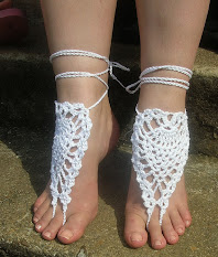 handmade crochet beach sandals