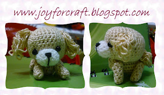 Amigurumi Cute Puppy White Brown