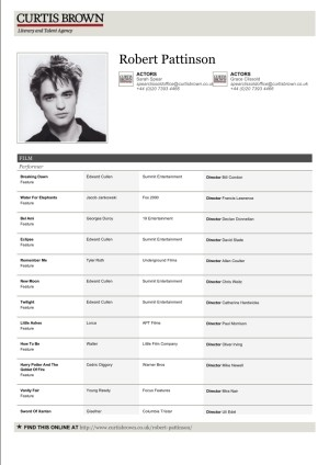 THE ACTOR'S SLATE: YOUR ACTOR RESUME