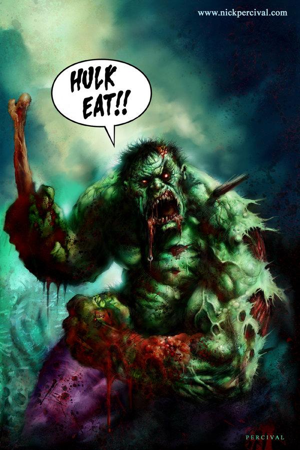 Hulk Zombie por Nick-Percival
