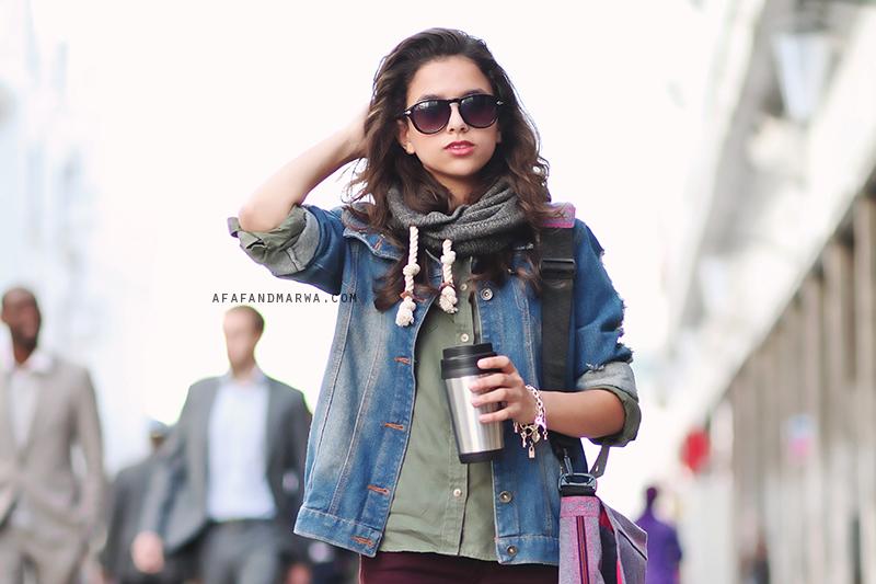 idée de tenue pour l'automne au Maroc bottes en plastique acheter eastpack au maroc casablanca afaf and marwa afaf et marwa blog mode maroc
