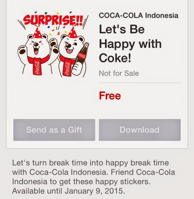 Let's Be Happy with Coke! stickers