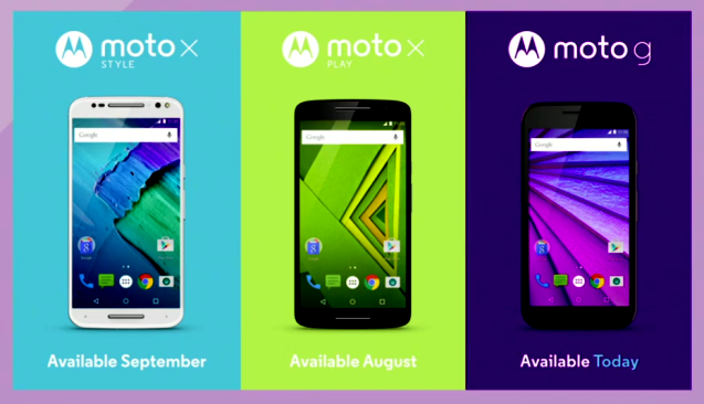Photo of New Moto X and Moto G smartphone models
