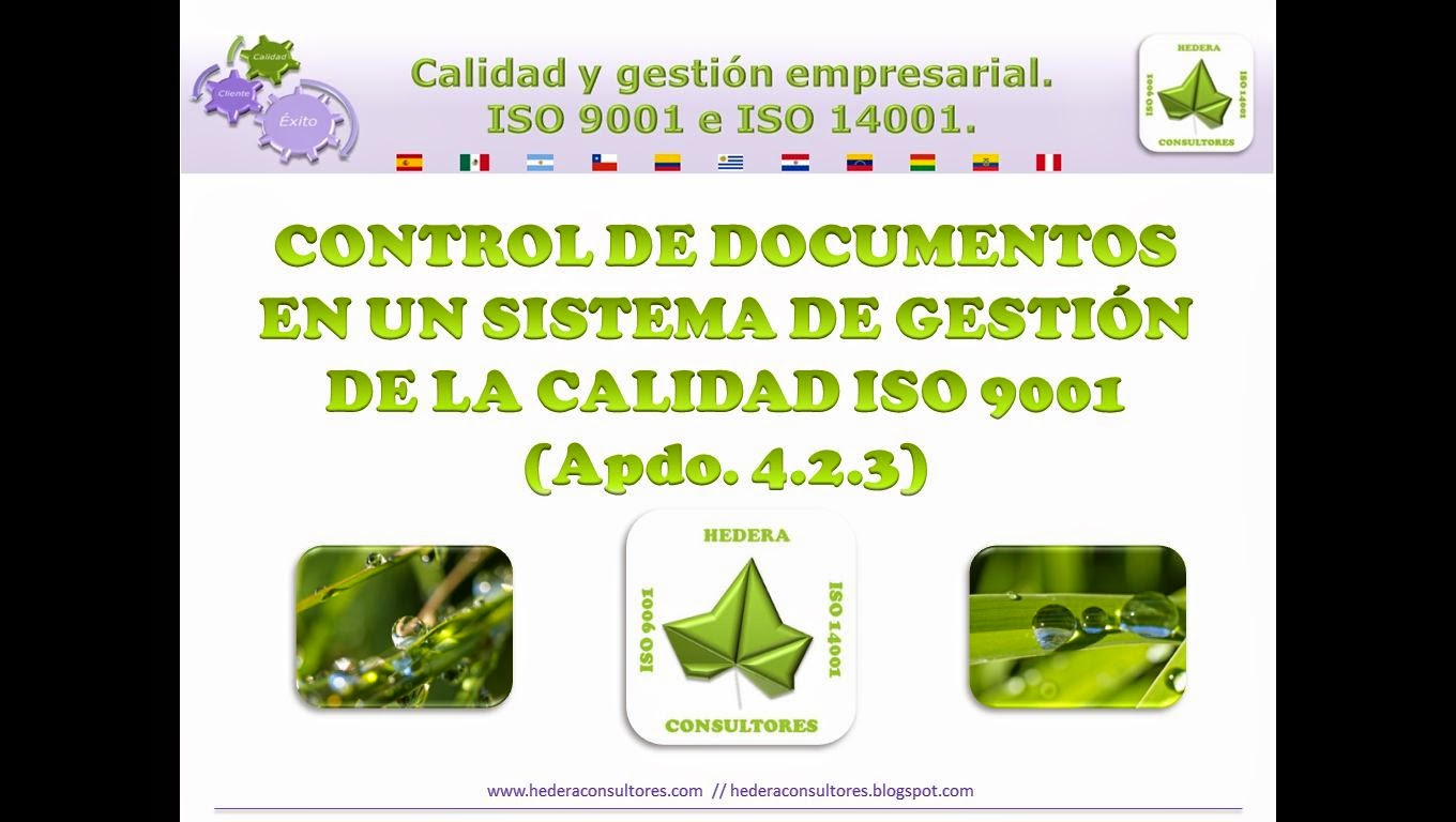 Control de documentos ISO 9001