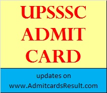 UPSSSC Assistant Accountant & Auditor admit card