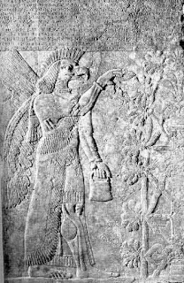 Ancient Sumerian Winged Bird-Headed God, Mesopotamia, Iraq, Cradle, Civilization, Sumer, alternative history, mystery Aliens Anunakis
