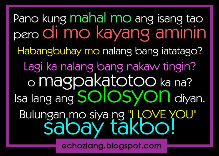Paano kung mahal mo ang isang tao pero di mo kayang aminin echoz