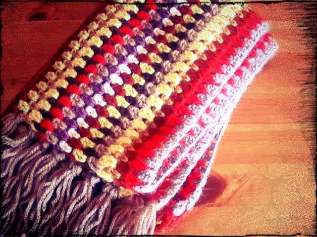 Bufanda de colores a crochet (ideal principiantes) | Margarita Knitting