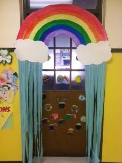Spring Classroom Door display