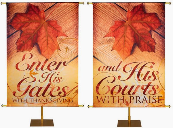Autumn Banners from PraiseBanners