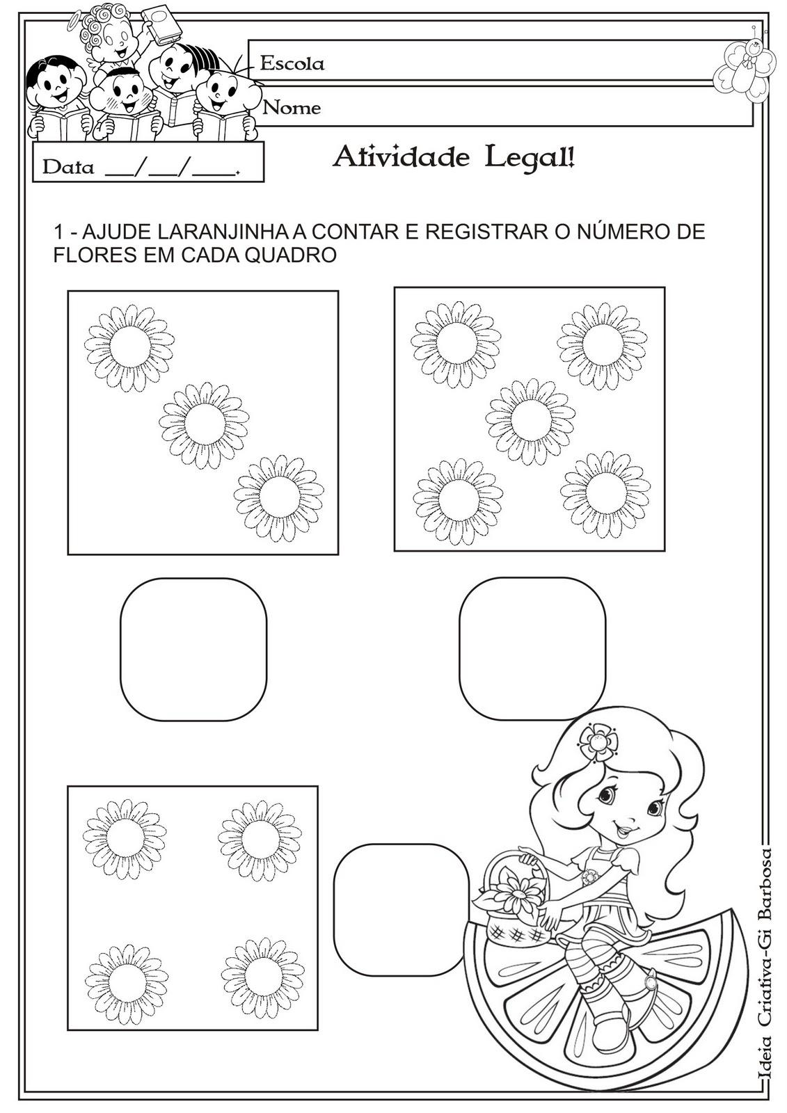 Muito Atividade Matemática Educação Infantil Temática Primavera | Ideia  YK71