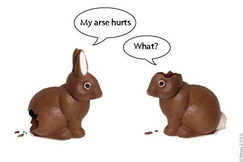 chocolate easter bunnies cartoon. easter bunny cartoon.