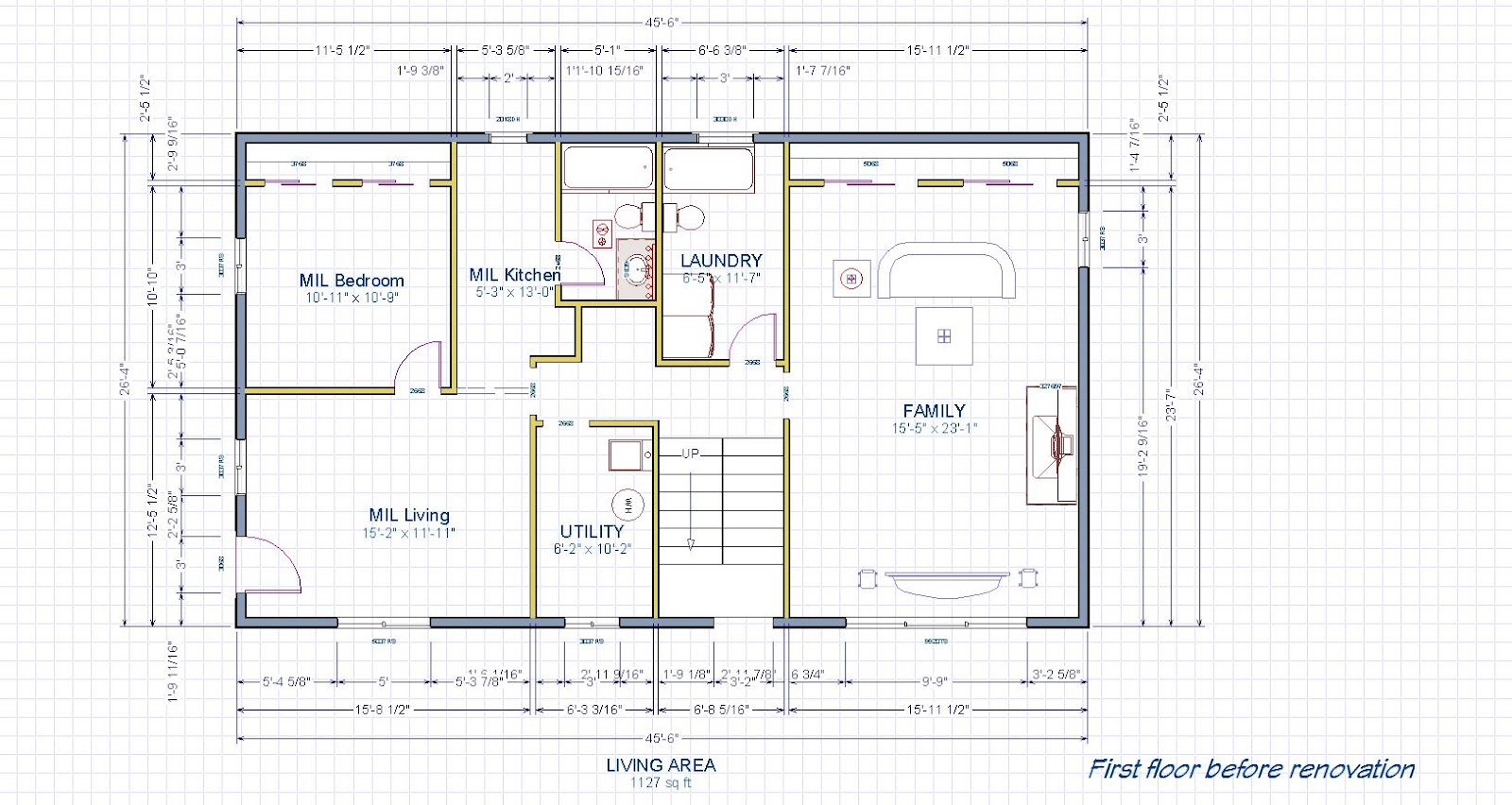 First Floor Layout Before Renovation (click On Image To See Larger Size)