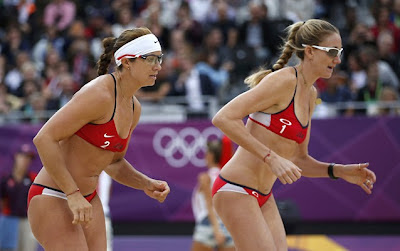Kerri Walsh Jennings Misty May-Treanor butts bikini London Olympics beach volleyball